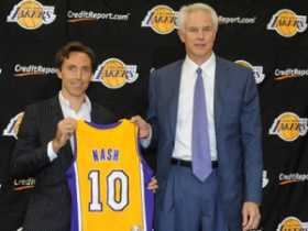 Los Angeles had been posted at 12-1 to win the NBA title next season, but dropped to 8-1 after news of the Nash acquisition was announced.
