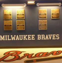 Milwaukee Braves Honor Wall Miller Park