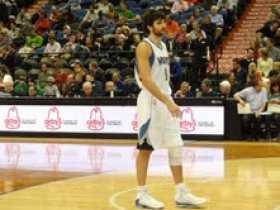 Ricky Rubio photo from courtside seats