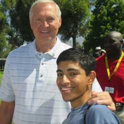 Fan photo with Jerry West