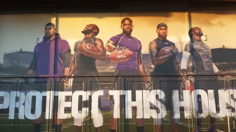 Under Armour Brand House Ravens Mural
