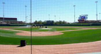 Camelback Ranch from behind home plate