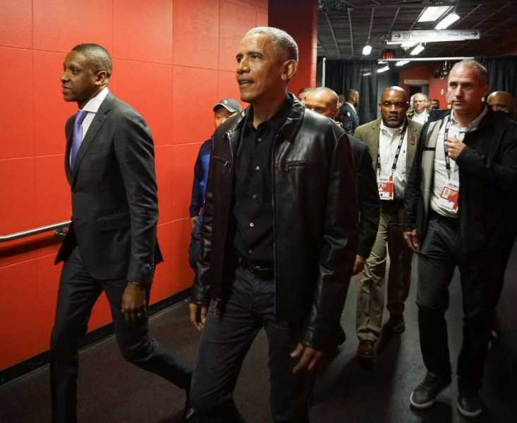 Behind The Scenes With President Barack Obama At The 2019 NBA Finals