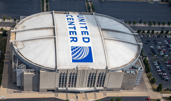 United Center aerial shot