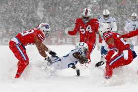 Colts and Bills 16.7 inches of snow
