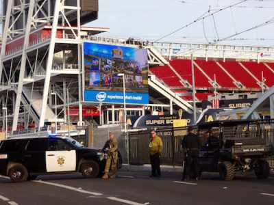 Levi's Stadium Super Bowl Security