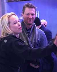 ale Earnhardt Jr. at Super Bowl LII