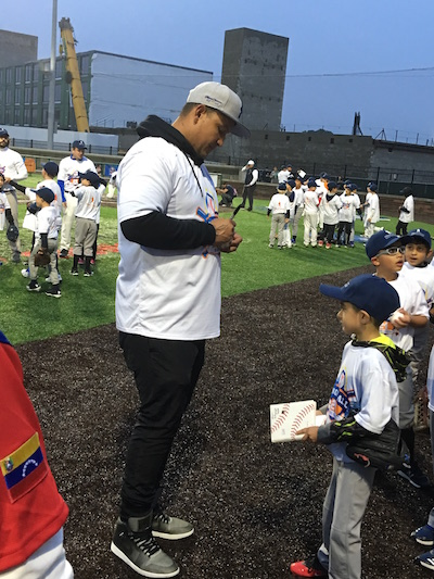 Miguel Cabrera at Miggy Ball event