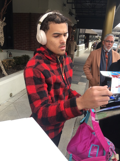Trae Young Signing Autographs