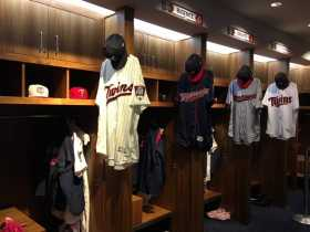 Twins Locker-room photos