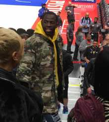 Draymond Green Talking To Family and Friends