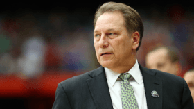 Tom Izzo Video Outside Detroit Hotel