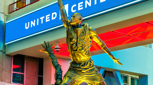 Michael Jordan statue United Center atrium
