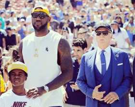 LeBron James at LA Rams first home game