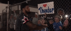 OKC Thunder fans Welcome Team Home At Will Rogers World Airport