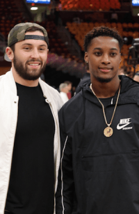 Baker Mayfield and Denzel Ward Quicken Loans Arena