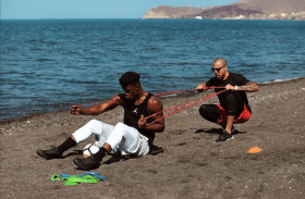 Jimmy Butler beach workout Greece