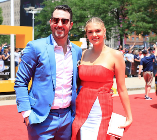 Justin Verlander and Kate Upton at All-Star Red Carpet