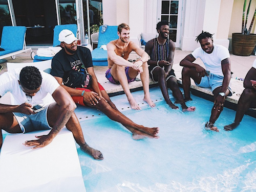 The Timberwolves in the Bahamas