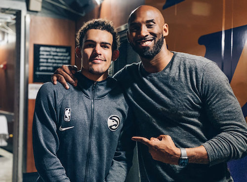 Kobe Bryant photo with Trae Young