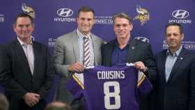 Kirk Cousins Arrives In Minnesota