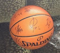 Timberwolves autographed ball
