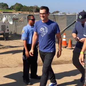 Ty Burrell at Rams vs. Cowboys joint practice in Oxnard
