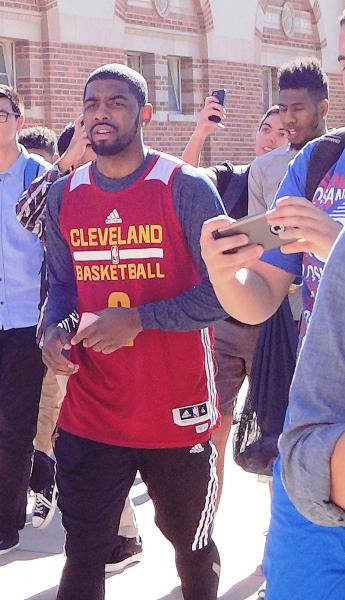 Up close photo Kyrie Irving at UCLA