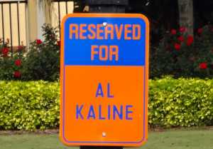 Al Kaline Parking Spot Joker Marchant Stadium