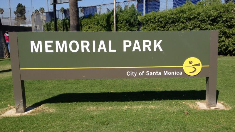 Warriors training camp Memorial Park Santa Monica