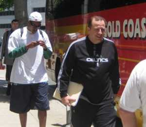 Paul Pierce & Tom Thibodeau outside Beverly Wilshire Hotel 2010 NBA Finals