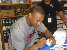 Robert Woods autograph signing, presented by Deluxe Signature Collection, at South Bay Baseball Cards, Inc. in Lomita, Calif