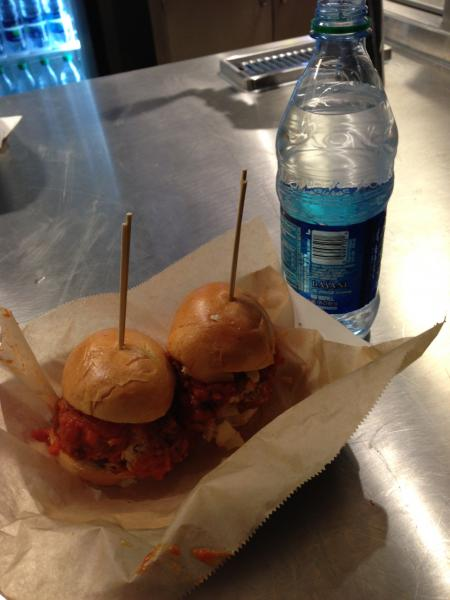 Chicken Meatball slider FRESCO by Scotto at Barclays Center
