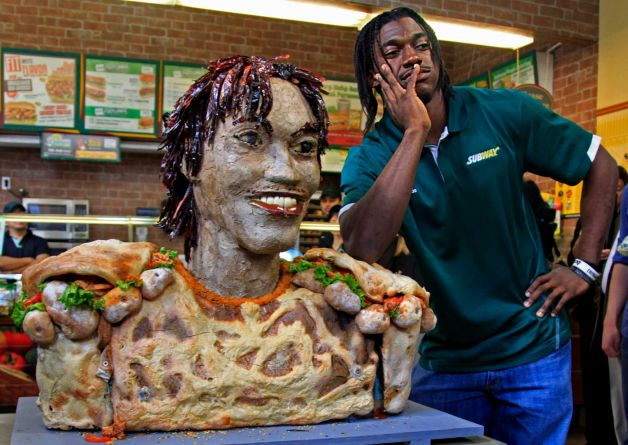 Robert Griffin III Subway sculpture