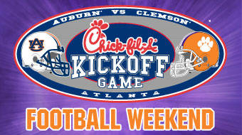 Auburn four-point underdog to Clemson in Chick-fil-A Kickoff Classic