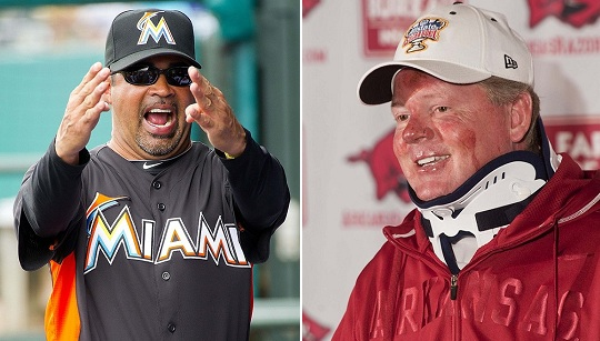 Ozzie Guillen and Bobby Petrino