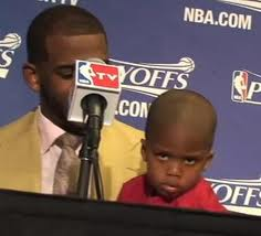 "Chris Paul's Son Does The ""Blake Face"""