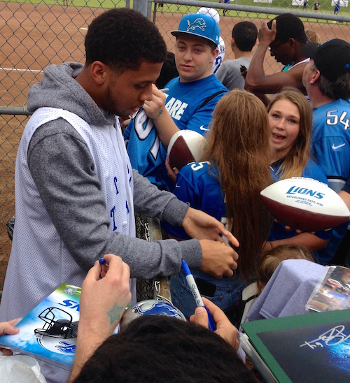 Corey Fuller signing autographs