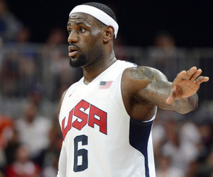 James recorded the first triple-double in the history of USA Basketball