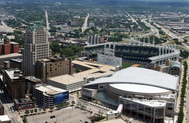 Quicken Loans Arena and Progressive Field