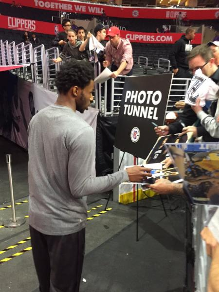 Andrew Wiggins Signing Autographs In LA