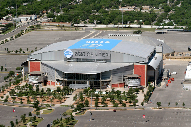 A Look At AT&T Center The San Antonio Spurs Home Arena