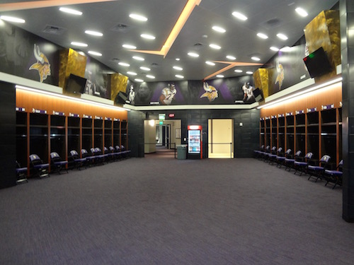 U.S. Bank Stadium Vikings Locker-room