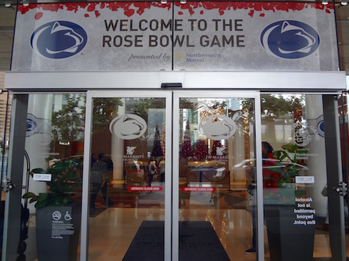Penn State Rose Bowl Hotel JW Marriott Los Angeles L.A. Live
