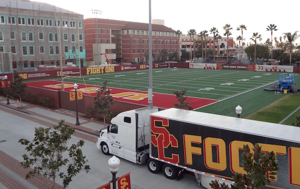 USC Football practice field Brian Kennedy Field