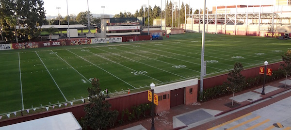 USC Football practice field Howard Jones Field