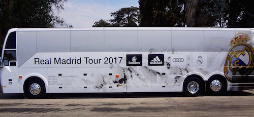 Real Madrid bus at UCLA