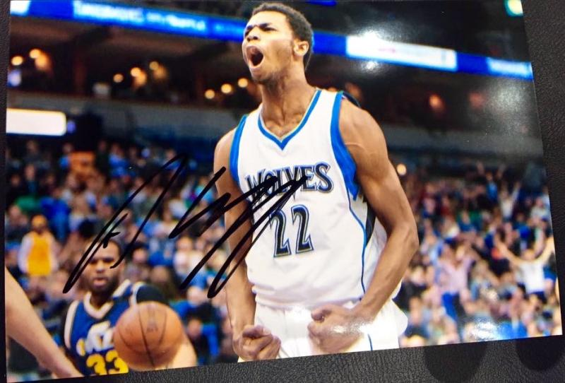 Andrew Wiggins autographed photo