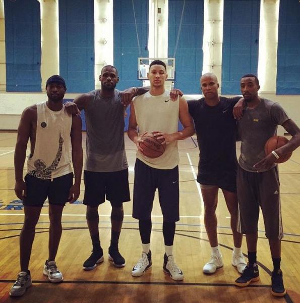 LeBron James, Dwayne Wade & Ben Simmons Training At UCLA