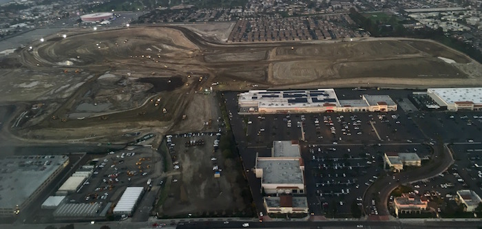 Aerial photos of Rams and Chargers new stadium site